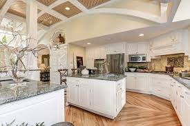 Kitchen Island Columns Cottage Kitchen With Inset Cabinets U0026 Flat Panel Cabinets In