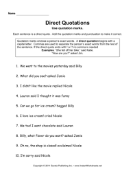 direct quotations u2014 instant worksheets