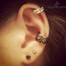 earring pierced lobe and cartilage earrings piercing