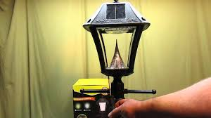 Outdoor Solar Post Light Fixtures Gama Sonic Baytown Ii Outdoor Black Resin Solar Post Light And