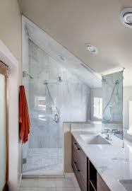 cool small attic bathroom sloped ceiling interior design ideas
