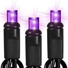 halloween purple led string lights black wire 50 purple led bulbs 25 ft string light