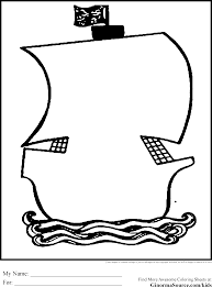 pirates ship coloring pages outline coloring pages pinterest
