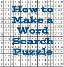 make own word search easy steps to create your own word search puzzle hubpages