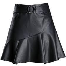 dwayne 2017 high quality mini pu skirts plus size m 4xl black