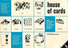 Design Your Own New Home Cards Eames House Of Cards Instructions From A 1960s Edition Of The