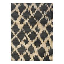 Trendy Rugs Charcoal U0026 Tan Tribal Design Rug Bassett Home Furnishings