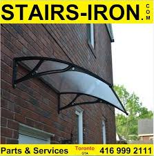 Awning Toronto Awning Window Door Canopy Stairs Parts Wrought Iron Insert Glass