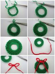 mini wreath ornament crochet pattern by planetjune free pattern