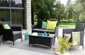 4 Piece Wicker Patio Furniture - amazon com baner garden n68 4 pieces outdoor furniture complete