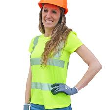 Construction High Visibility Clothing Women U0027s Hi Vis Reflective Safety T Shirt With Ansi Certified 2