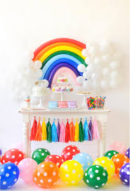 Birthday Party Decorations In Home by Interior Design Rainbow Themed Birthday Party Decorations Home