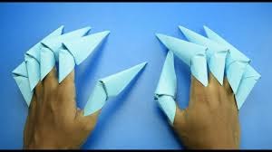 Origami Paper Claws - how to make a origami paper claws paper craft
