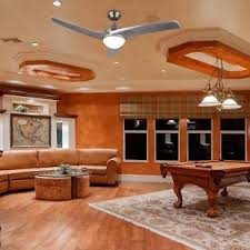 living room ceiling fan contemporary ceiling fan with led panel light remote brushed