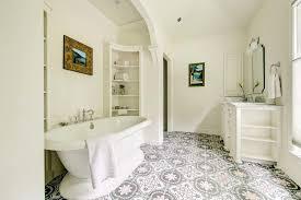 patterned tile bathroom nashville moroccan floor tiles bathroom mediterranean with white
