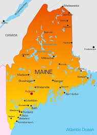 map of maine vector color map of maine state usa lpn programs near you