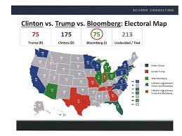 Election 2016 Map by Bloomberg U0027s Maps Show Him Winning Presidency Business Insider