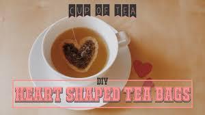 heart shaped tea bags diy heart shaped tea bags