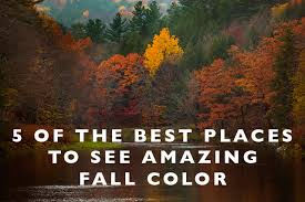 5 places amazing fall color