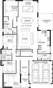 Narrow Block Floor Plans The Inspire Dream Home Designs Pinterest Powder Room And
