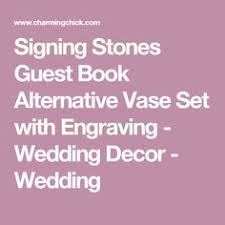 signing stones guest book signing stones guest book alternative vase set with engraving