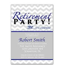 Retirement Invitation Wording Surprise Retirement Party Invitation Gray Chevron Navy Blue