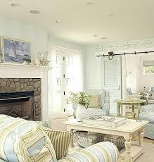 plaid living room furniture brown leather sofa blue and white plaid chair coastal coastal