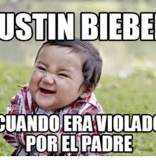 Justin Biber Meme - ustin biebe cuandoeraviolado porelipadre grumpy cat meme justin