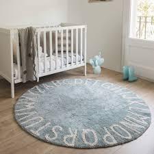 tapis rond chambre bébé tapis rond chambre garçon tapis enfant lavable bleu