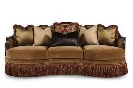 wood trim sofa elegant formal sofa by a r t mathis brothers