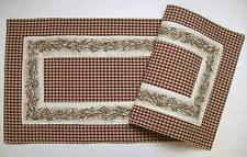 Primitive Table Runners by Checked U0026 Gingham Table Runners Ebay