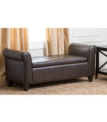 Diy Ottomans Bench Ottomans Benches Hartford Leather Storage Bench Black With