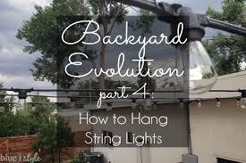 Stringing Lights In Backyard by Hanging Lights For Backyard