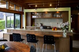 Parallel Kitchen Ideas Amusing Modern Style Kitchen Featuring White Black Colors Kitchen