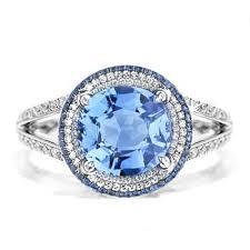 blue topaz engagement rings blue topaz diamond engagement ring engagement rings review