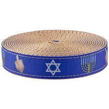 copper ribbon buy 1 inch hanukkah ribbon on copper gold webbing online