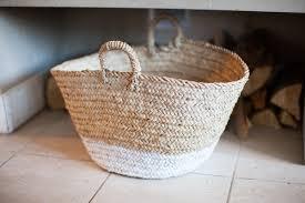 diy u2013 dip dyed fireplace basket