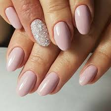 21 elegant nail designs for short nails rose gold glitter nails
