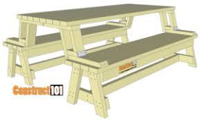 folding picnic table bench plans pdf folding picnic table and bench plans