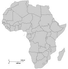 africa map black and white africa