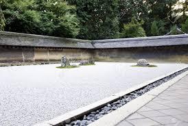 rock garden also called a zen garden at the ryoan ji temple