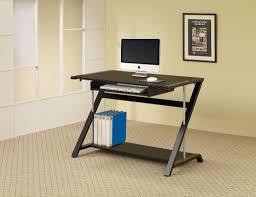 Black And Chrome Computer Desk Computer Desk Black Chrome Furniture