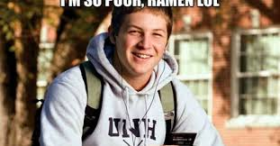 College Students Meme - guy in college freshman meme now stars in a new college senior