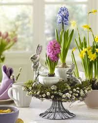 Pretty Easter Table Decorations by Beautiful Nest Cradling Pretty Blooms From Spring Flowering Bulbs