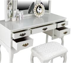 White And Mirrored Bedroom Furniture Amazon Com Furniture Of America Matilda Chippendale Style Vanity
