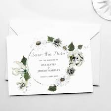save the date post cards botanical white floral save the date cards by bloom cocoon