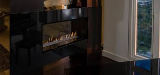 h series modern vent free open face see through gas fireplace