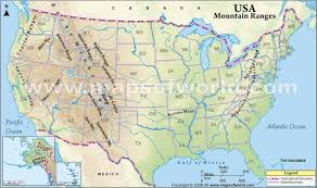 united states map with rivers and mountain ranges map of us and canada rivers united states mountain ranges map