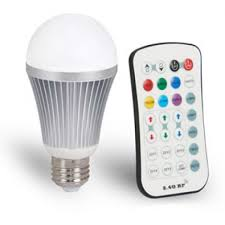 Remote Controlled Lights Controlled Rgbw Bulb A Shape