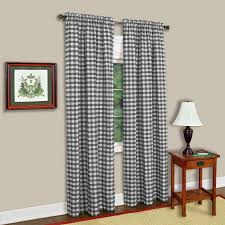Black Check Curtains Buffalo Check Curtain Panel Available In Sizes And Colors